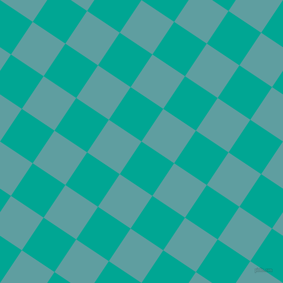 56/146 degree angle diagonal checkered chequered squares checker pattern checkers background, 79 pixel square size, , Persian Green and Cadet Blue checkers chequered checkered squares seamless tileable