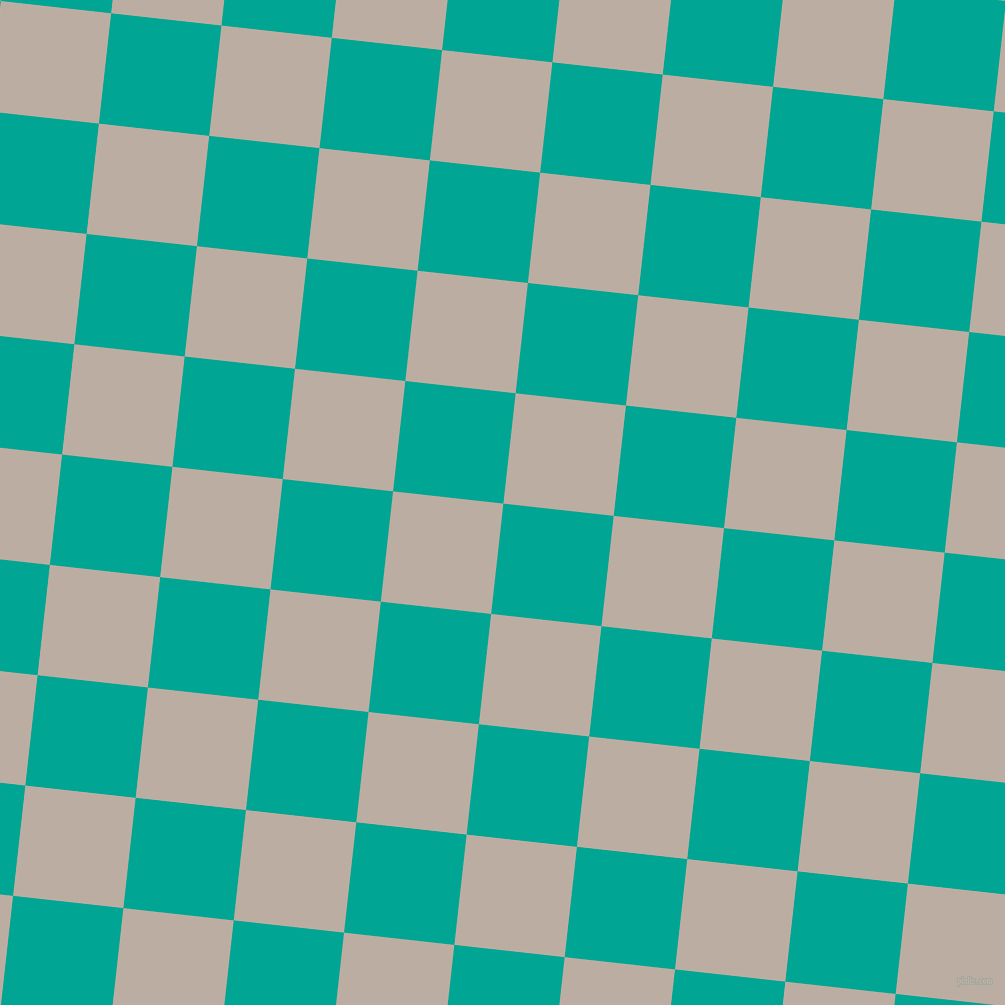 84/174 degree angle diagonal checkered chequered squares checker pattern checkers background, 111 pixel squares size, , Persian Green and Silk checkers chequered checkered squares seamless tileable