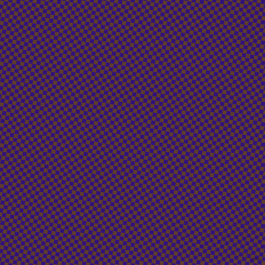 79/169 degree angle diagonal checkered chequered squares checker pattern checkers background, 14 pixel square size, , Persian Indigo and Cioccolato checkers chequered checkered squares seamless tileable