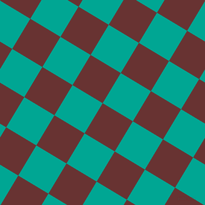 59/149 degree angle diagonal checkered chequered squares checker pattern checkers background, 70 pixel squares size, , Persian Plum and Persian Green checkers chequered checkered squares seamless tileable