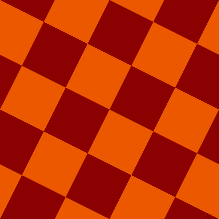 63/153 degree angle diagonal checkered chequered squares checker pattern checkers background, 163 pixel square size, , Persimmon and Dark Red checkers chequered checkered squares seamless tileable
