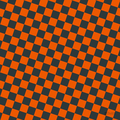72/162 degree angle diagonal checkered chequered squares checker pattern checkers background, 26 pixel square size, , Persimmon and Outer Space checkers chequered checkered squares seamless tileable