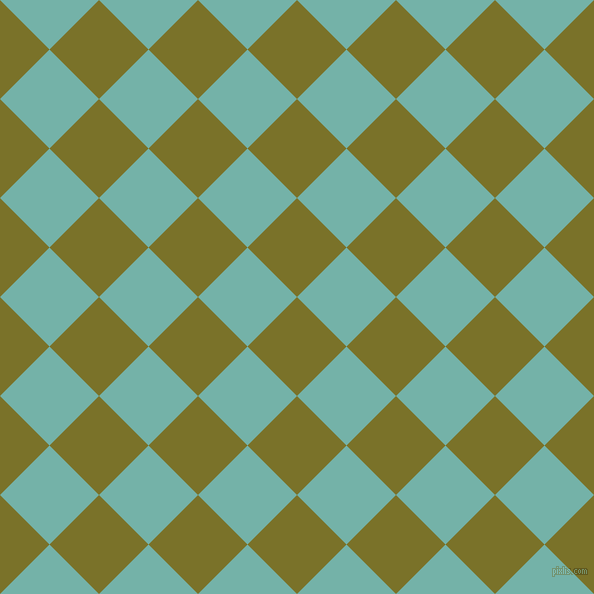 45/135 degree angle diagonal checkered chequered squares checker pattern checkers background, 70 pixel square size, , Pesto and Gulf Stream checkers chequered checkered squares seamless tileable