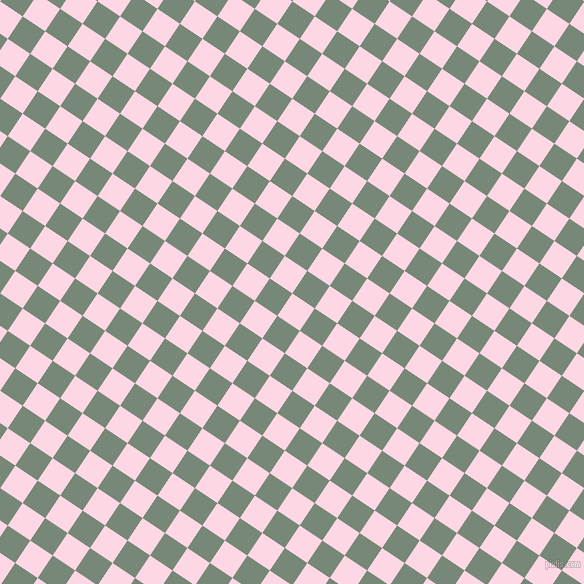 56/146 degree angle diagonal checkered chequered squares checker pattern checkers background, 27 pixel square size, , Pig Pink and Davy