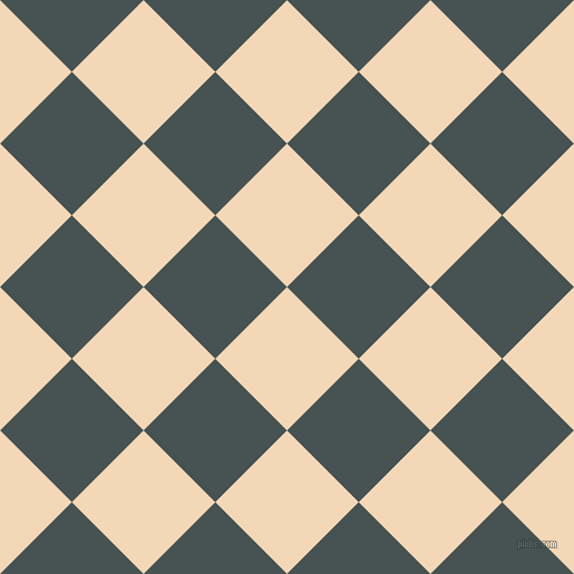 45/135 degree angle diagonal checkered chequered squares checker pattern checkers background, 91 pixel square size, , Pink Lady and Dark Slate checkers chequered checkered squares seamless tileable