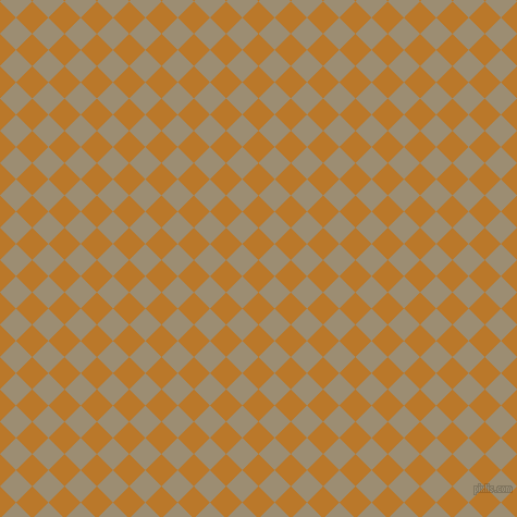45/135 degree angle diagonal checkered chequered squares checker pattern checkers background, 21 pixel squares size, , Pirate Gold and Pale Oyster checkers chequered checkered squares seamless tileable