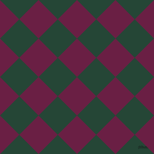 45/135 degree angle diagonal checkered chequered squares checker pattern checkers background, 91 pixel square size, Pompadour and Bottle Green checkers chequered checkered squares seamless tileable