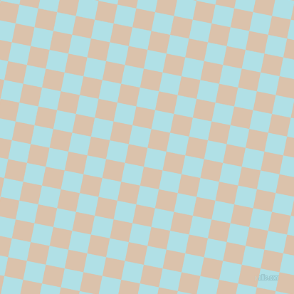 79/169 degree angle diagonal checkered chequered squares checker pattern checkers background, 27 pixel square size, , Powder Blue and Bone checkers chequered checkered squares seamless tileable
