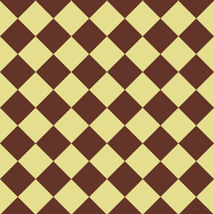 45/135 degree angle diagonal checkered chequered squares checker pattern checkers background, 52 pixel square size, , Primrose and Hairy Heath checkers chequered checkered squares seamless tileable