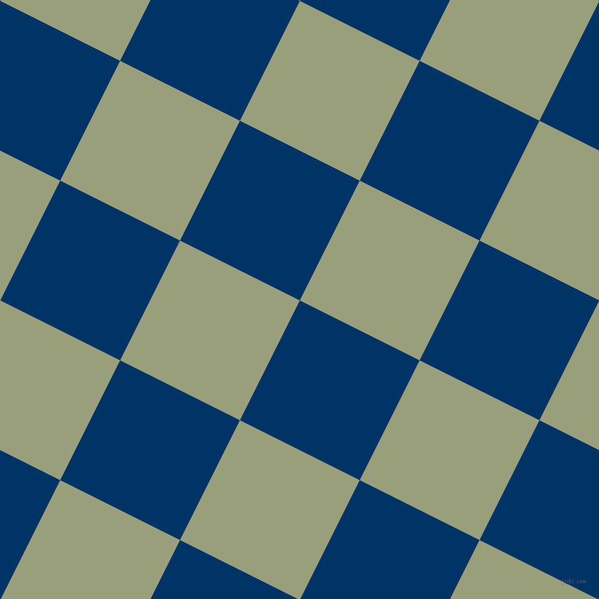 63/153 degree angle diagonal checkered chequered squares checker pattern checkers background, 189 pixel square size, Prussian Blue and Sage checkers chequered checkered squares seamless tileable