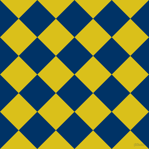 45/135 degree angle diagonal checkered chequered squares checker pattern checkers background, 91 pixel square size, , Prussian Blue and Sunflower checkers chequered checkered squares seamless tileable