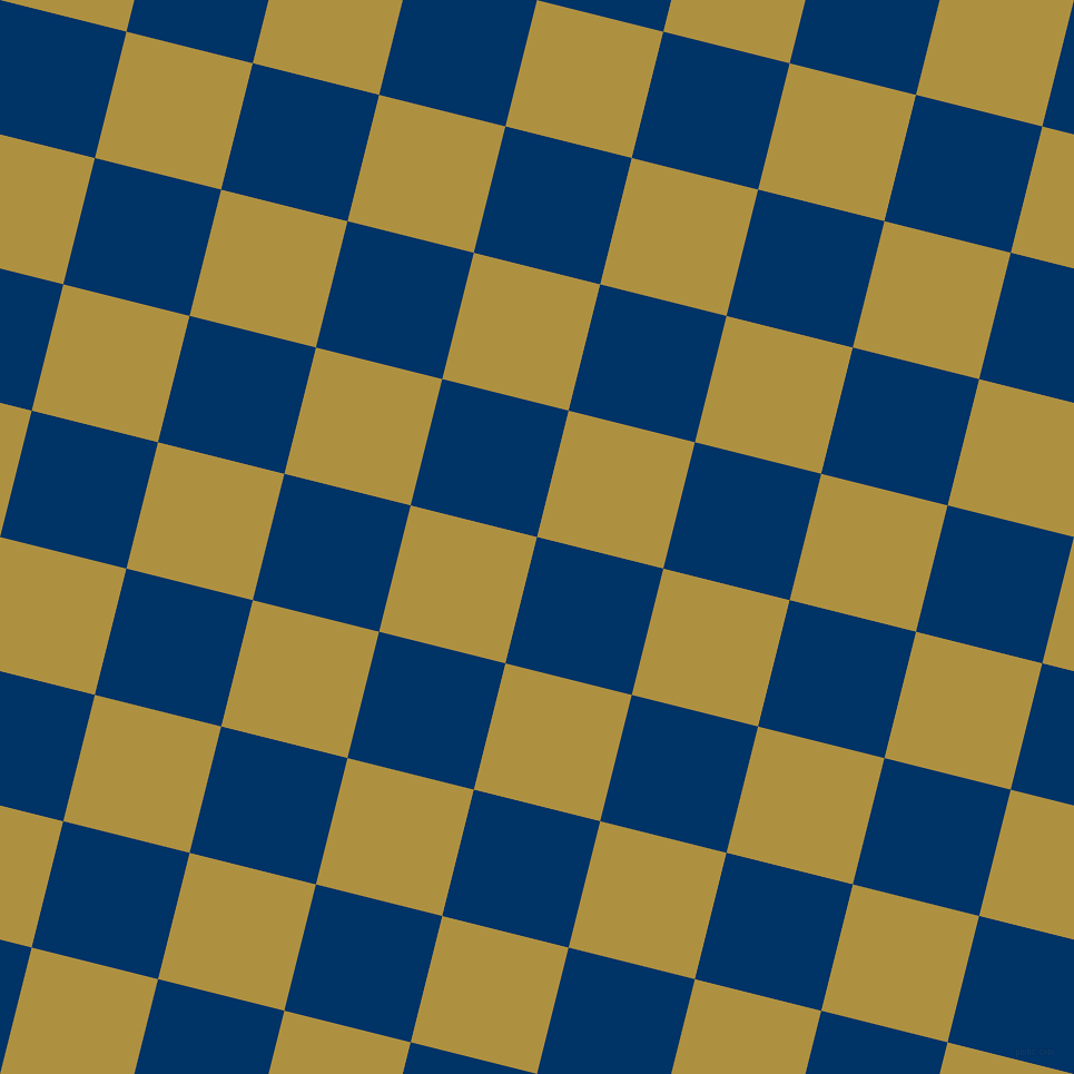 76/166 degree angle diagonal checkered chequered squares checker pattern checkers background, 117 pixel square size, , Prussian Blue and Turmeric checkers chequered checkered squares seamless tileable