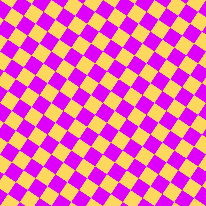 56/146 degree angle diagonal checkered chequered squares checker pattern checkers background, 59 pixel square size, , Psychedelic Purple and Dandelion checkers chequered checkered squares seamless tileable