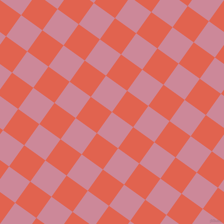 54/144 degree angle diagonal checkered chequered squares checker pattern checkers background, 83 pixel squares size, , Puce and Flamingo checkers chequered checkered squares seamless tileable