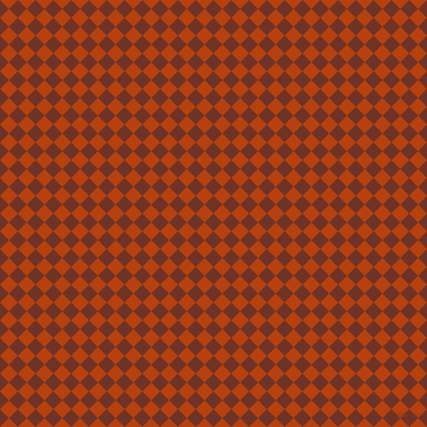 45/135 degree angle diagonal checkered chequered squares checker pattern checkers background, 18 pixel square size, , Pueblo and Rust checkers chequered checkered squares seamless tileable