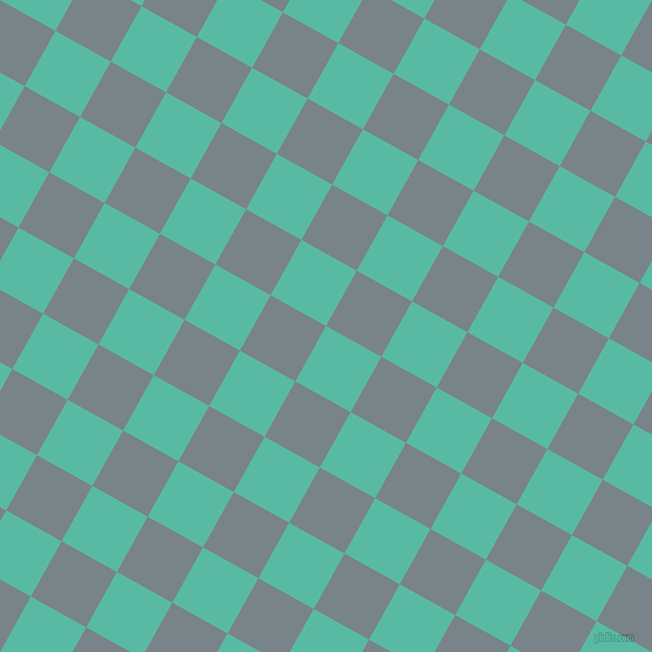 61/151 degree angle diagonal checkered chequered squares checker pattern checkers background, 57 pixel square size, , Puerto Rico and Regent Grey checkers chequered checkered squares seamless tileable