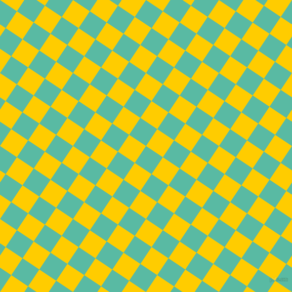 56/146 degree angle diagonal checkered chequered squares checker pattern checkers background, 40 pixel squares size, , Puerto Rico and Tangerine Yellow checkers chequered checkered squares seamless tileable