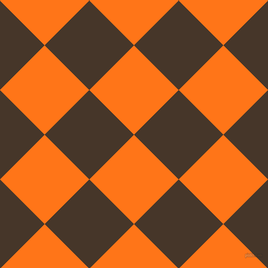45/135 degree angle diagonal checkered chequered squares checker pattern checkers background, 129 pixel square size, , Pumpkin and Woodburn checkers chequered checkered squares seamless tileable