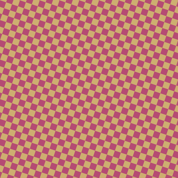 72/162 degree angle diagonal checkered chequered squares checker pattern checkers background, 24 pixel square size, , Putty and Royal Heath checkers chequered checkered squares seamless tileable