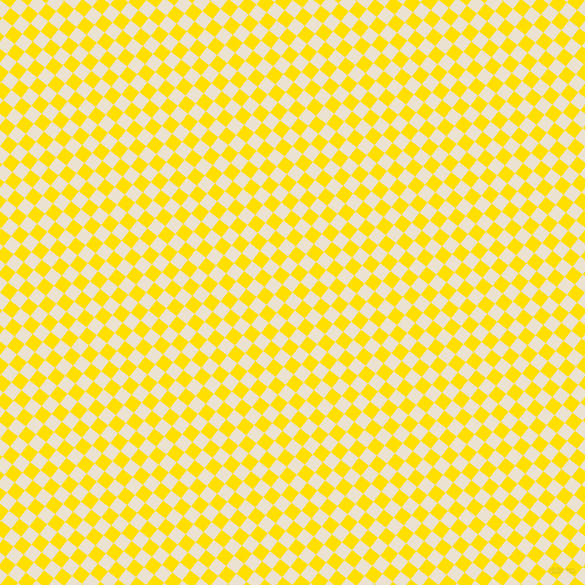 52/142 degree angle diagonal checkered chequered squares checker pattern checkers background, 18 pixel squares size, , Quarter Spanish White and Golden Yellow checkers chequered checkered squares seamless tileable