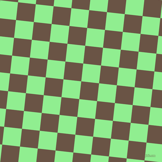 84/174 degree angle diagonal checkered chequered squares checker pattern checkers background, 60 pixel square size, Quincy and Light Green checkers chequered checkered squares seamless tileable