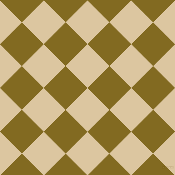 45/135 degree angle diagonal checkered chequered squares checker pattern checkers background, 99 pixel square size, , Raffia and Yukon Gold checkers chequered checkered squares seamless tileable