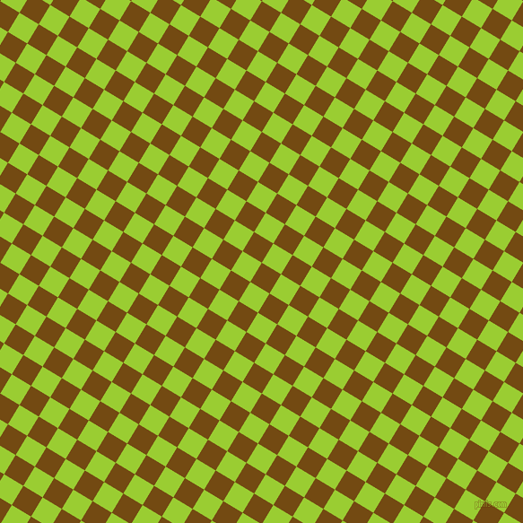 59/149 degree angle diagonal checkered chequered squares checker pattern checkers background, 25 pixel squares size, , Raw Umber and Yellow Green checkers chequered checkered squares seamless tileable