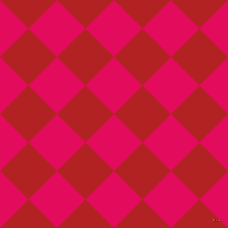 45/135 degree angle diagonal checkered chequered squares checker pattern checkers background, 140 pixel squares size, , Razzmatazz and Fire Brick checkers chequered checkered squares seamless tileable