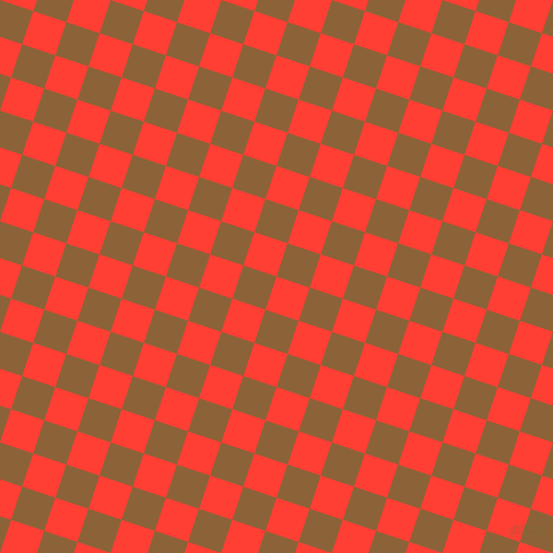 72/162 degree angle diagonal checkered chequered squares checker pattern checkers background, 32 pixel squares size, , Red Orange and McKenzie checkers chequered checkered squares seamless tileable