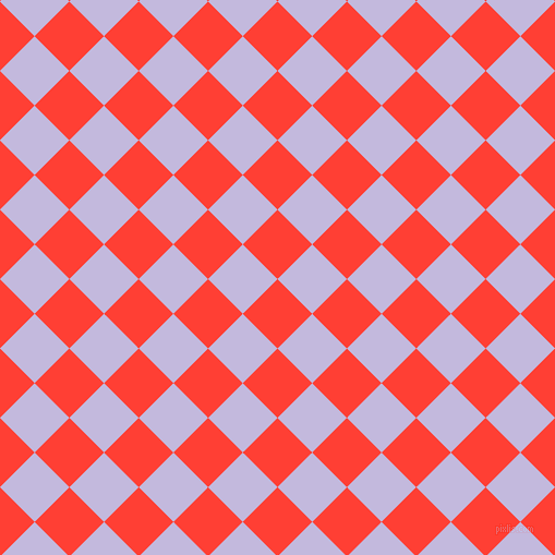 45/135 degree angle diagonal checkered chequered squares checker pattern checkers background, 45 pixel squares size, , Red Orange and Melrose checkers chequered checkered squares seamless tileable
