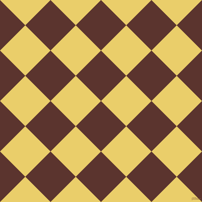 45/135 degree angle diagonal checkered chequered squares checker pattern checkers background, 135 pixel squares size, , Redwood and Golden Sand checkers chequered checkered squares seamless tileable