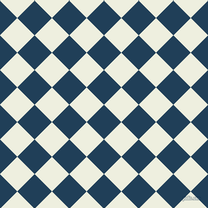 45/135 degree angle diagonal checkered chequered squares checker pattern checkers background, 48 pixel square size, Regal Blue and Sugar Cane checkers chequered checkered squares seamless tileable
