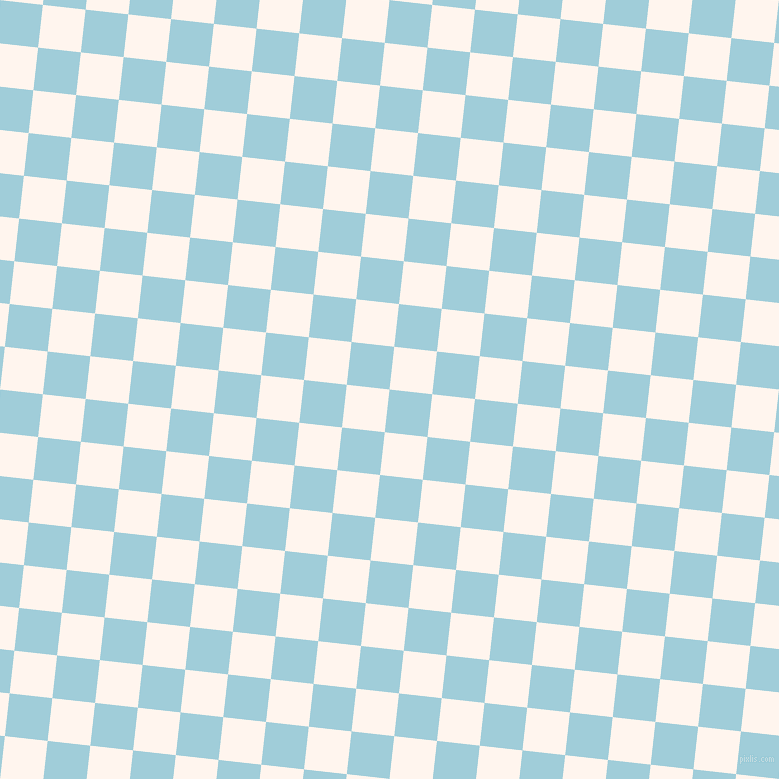 84/174 degree angle diagonal checkered chequered squares checker pattern checkers background, 43 pixel squares size, , Regent St Blue and Seashell checkers chequered checkered squares seamless tileable