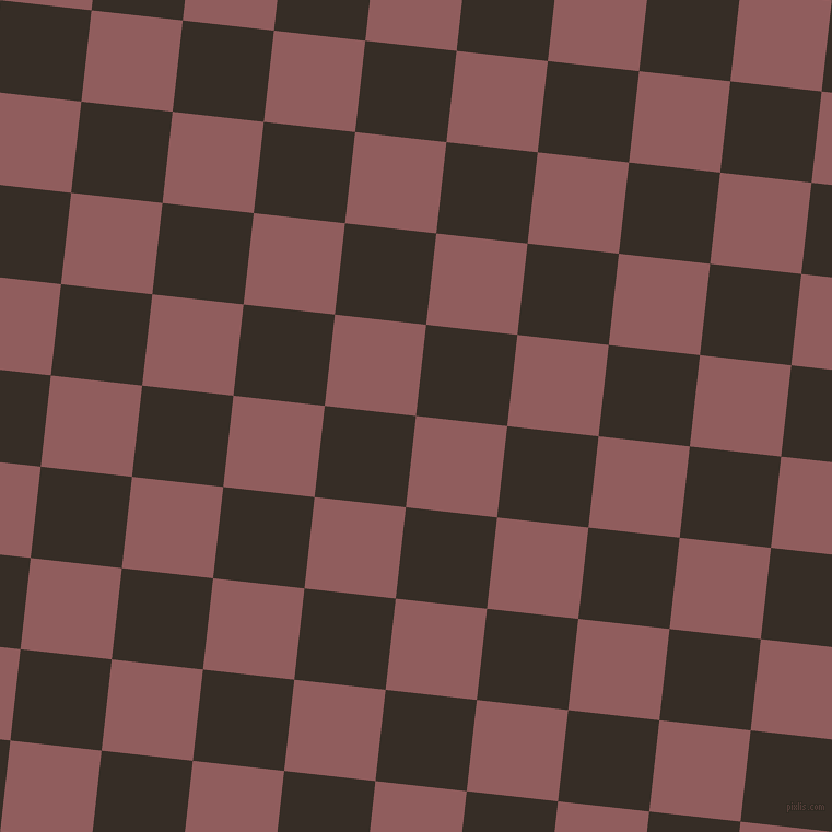 84/174 degree angle diagonal checkered chequered squares checker pattern checkers background, 84 pixel squares size, Rose Taupe and Coffee Bean checkers chequered checkered squares seamless tileable