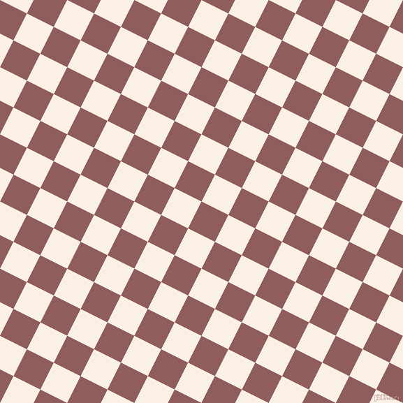 63/153 degree angle diagonal checkered chequered squares checker pattern checkers background, 43 pixel square size, , Rose Taupe and Linen checkers chequered checkered squares seamless tileable