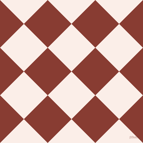 45/135 degree angle diagonal checkered chequered squares checker pattern checkers background, 134 pixel squares size, , Rose White and Prairie Sand checkers chequered checkered squares seamless tileable