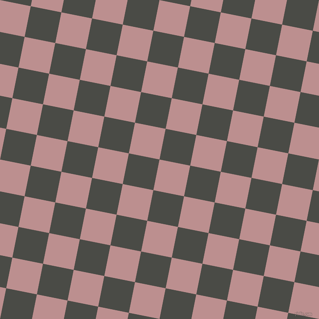 79/169 degree angle diagonal checkered chequered squares checker pattern checkers background, 64 pixel square size, , Rosy Brown and Gravel checkers chequered checkered squares seamless tileable