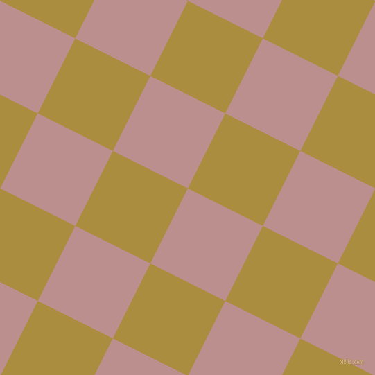63/153 degree angle diagonal checkered chequered squares checker pattern checkers background, 121 pixel square size, , Rosy Brown and Luxor Gold checkers chequered checkered squares seamless tileable