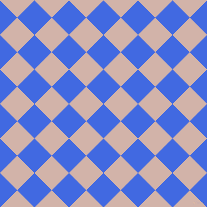 45/135 degree angle diagonal checkered chequered squares checker pattern checkers background, 79 pixel squares size, , Royal Blue and Clam Shell checkers chequered checkered squares seamless tileable