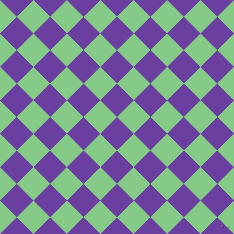 45/135 degree angle diagonal checkered chequered squares checker pattern checkers background, 82 pixel square size, , Royal Purple and De York checkers chequered checkered squares seamless tileable
