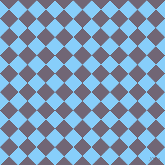 45/135 degree angle diagonal checkered chequered squares checker pattern checkers background, 44 pixel squares size, , Rum and Light Sky Blue checkers chequered checkered squares seamless tileable