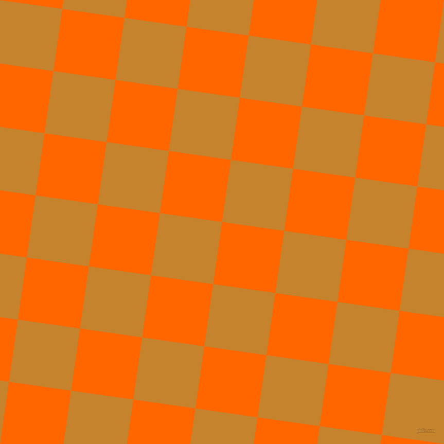 82/172 degree angle diagonal checkered chequered squares checker pattern checkers background, 122 pixel squares size, , Safety Orange and Geebung checkers chequered checkered squares seamless tileable