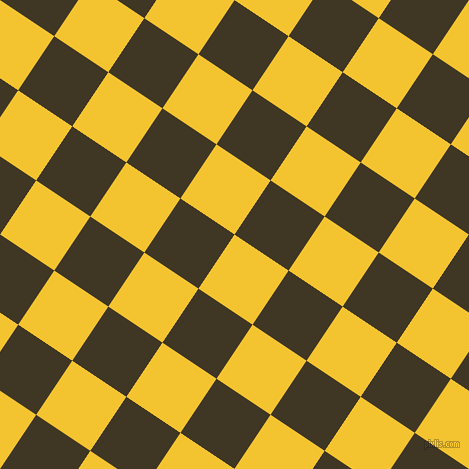 56/146 degree angle diagonal checkered chequered squares checker pattern checkers background, 65 pixel square size, , Saffron and Mikado checkers chequered checkered squares seamless tileable