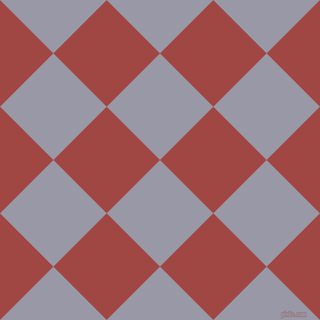 45/135 degree angle diagonal checkered chequered squares checker pattern checkers background, 106 pixel square size, , Santas Grey and Roof Terracotta checkers chequered checkered squares seamless tileable