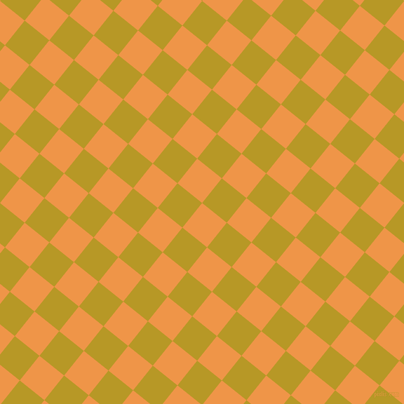 51/141 degree angle diagonal checkered chequered squares checker pattern checkers background, 45 pixel squares size, , Sea Buckthorn and Sahara checkers chequered checkered squares seamless tileable
