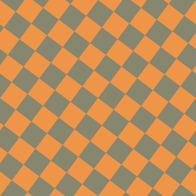 53/143 degree angle diagonal checkered chequered squares checker pattern checkers background, 63 pixel square size, , Sea Buckthorn and Schist checkers chequered checkered squares seamless tileable