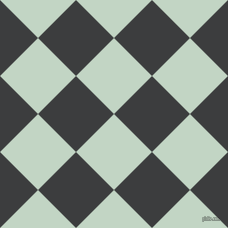 45/135 degree angle diagonal checkered chequered squares checker pattern checkers background, 111 pixel square size, , Sea Mist and Baltic Sea checkers chequered checkered squares seamless tileable