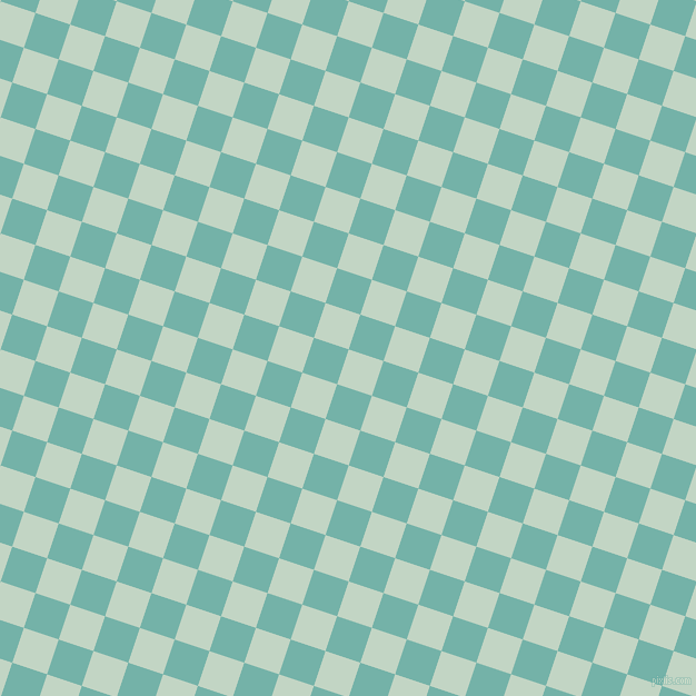 72/162 degree angle diagonal checkered chequered squares checker pattern checkers background, 33 pixel squares size, , Sea Mist and Gulf Stream checkers chequered checkered squares seamless tileable