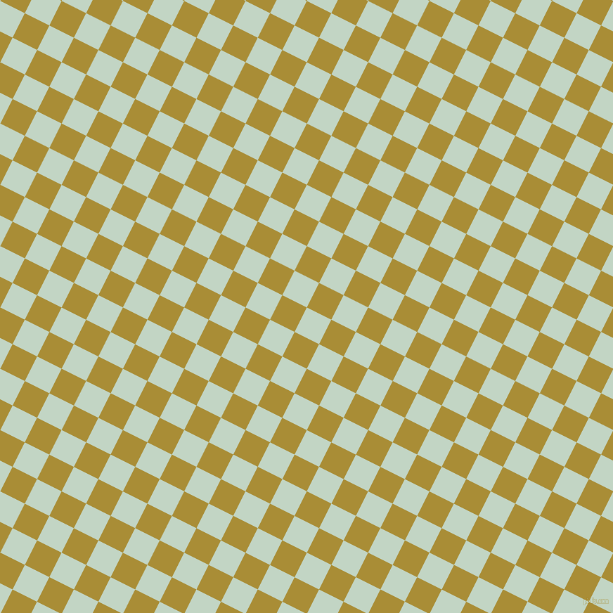 63/153 degree angle diagonal checkered chequered squares checker pattern checkers background, 39 pixel squares size, , Sea Mist and Reef Gold checkers chequered checkered squares seamless tileable