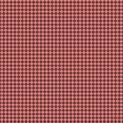 45/135 degree angle diagonal checkered chequered squares checker pattern checkers background, 9 pixel square size, , Sea Pink and Sanguine Brown checkers chequered checkered squares seamless tileable